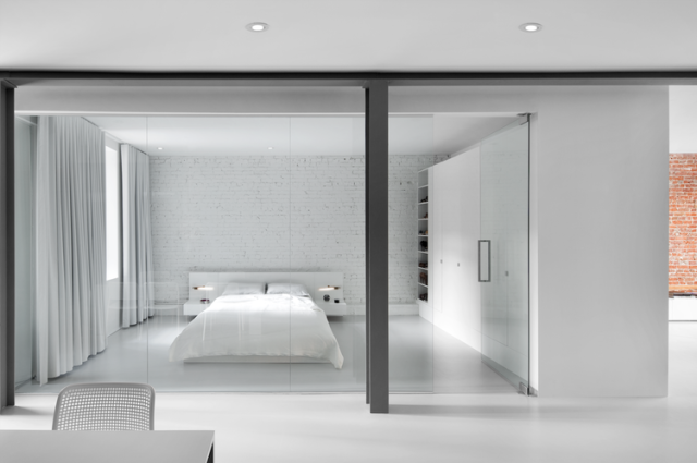 pristine white bedroom